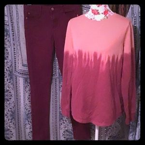🎉5 FOR $25 BNWT SONOMA LONG SLEEVE OMBRÉ TOP